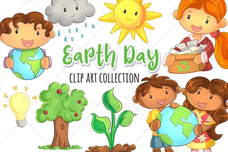 Earth day themed clip. Environment clipart cute