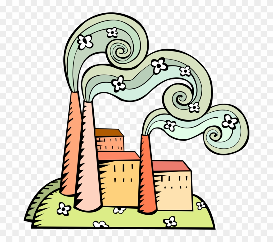 Industrialization vs environmental protection. Environment clipart cute