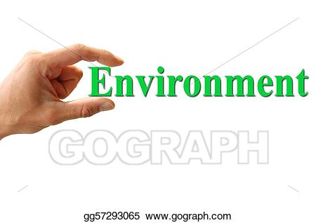 Environment clipart environment word. Stock illustrations hand holding