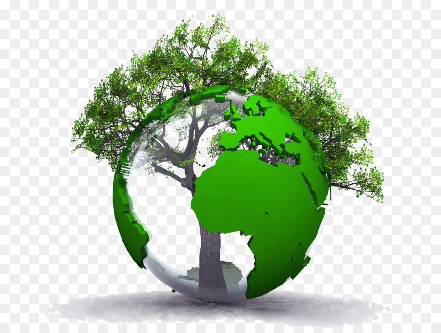 Green grass earth tree. Environment clipart environmental background