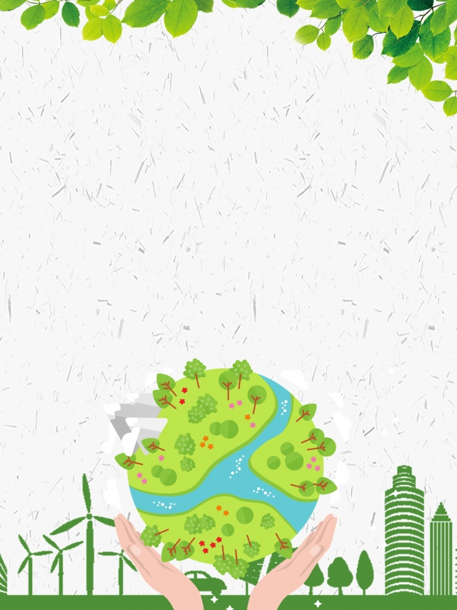 Atmospheric minimalist green protection. Environment clipart environmental background