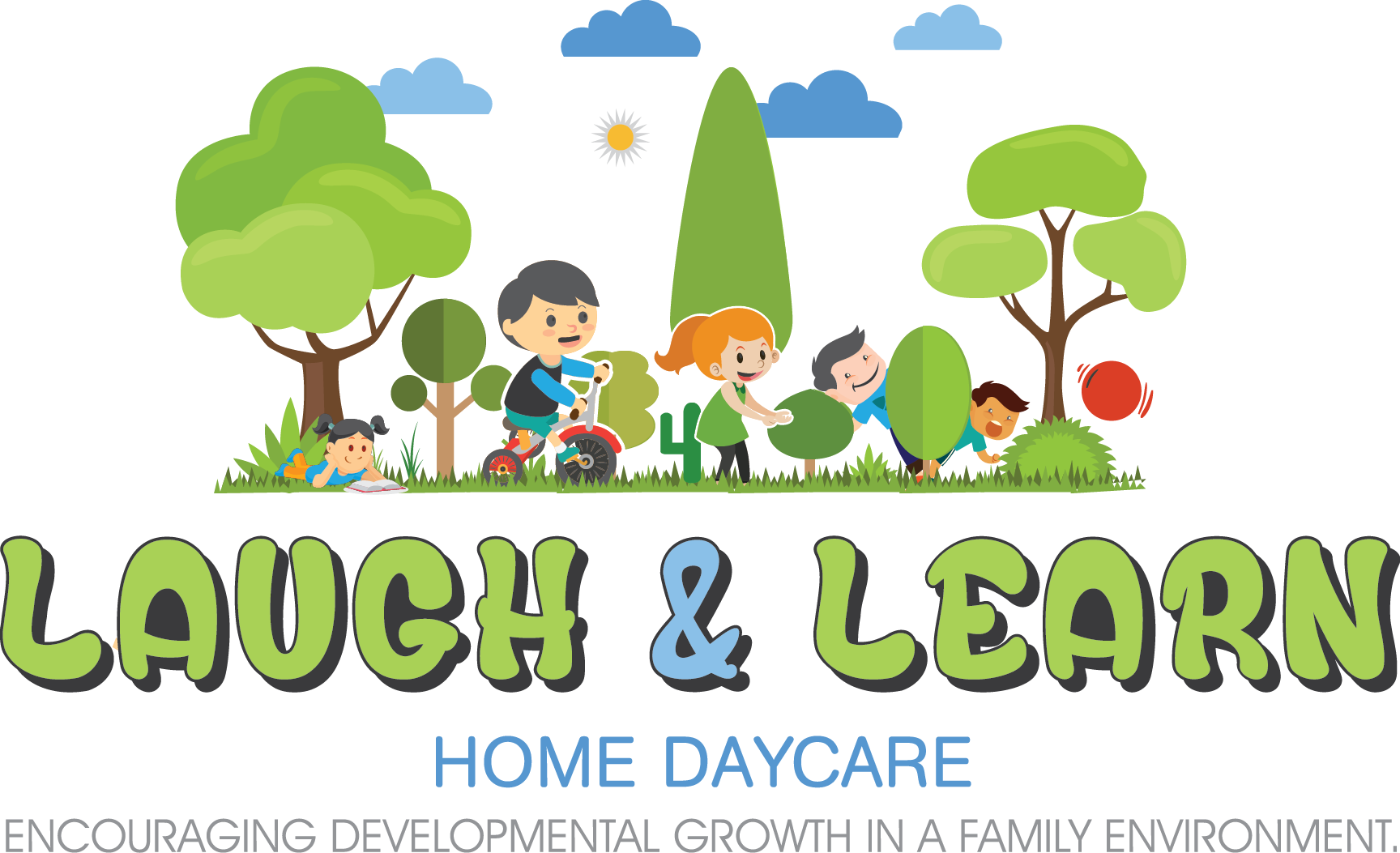 Book online laugh learn. Environment clipart family environment
