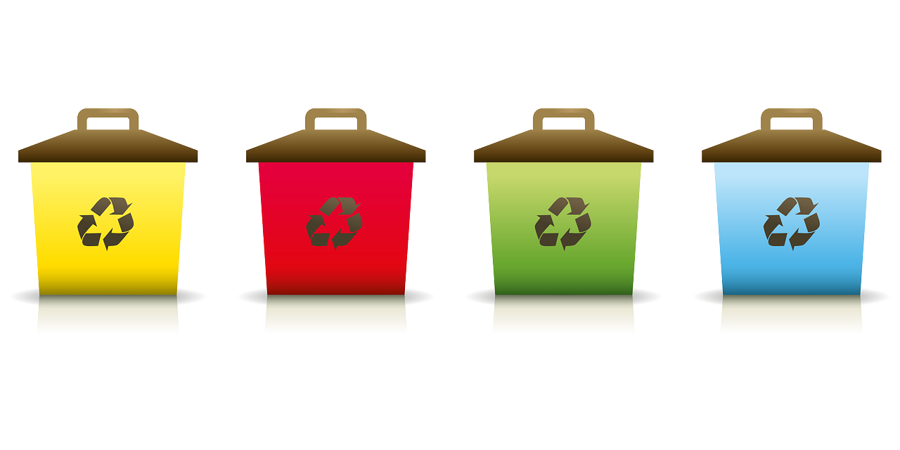 Latest innovations in recycling. Environment clipart full bin