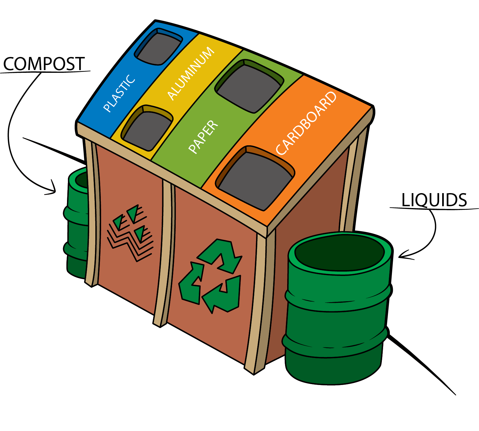 Student recycling initiative aims. Newspaper clipart paper waste