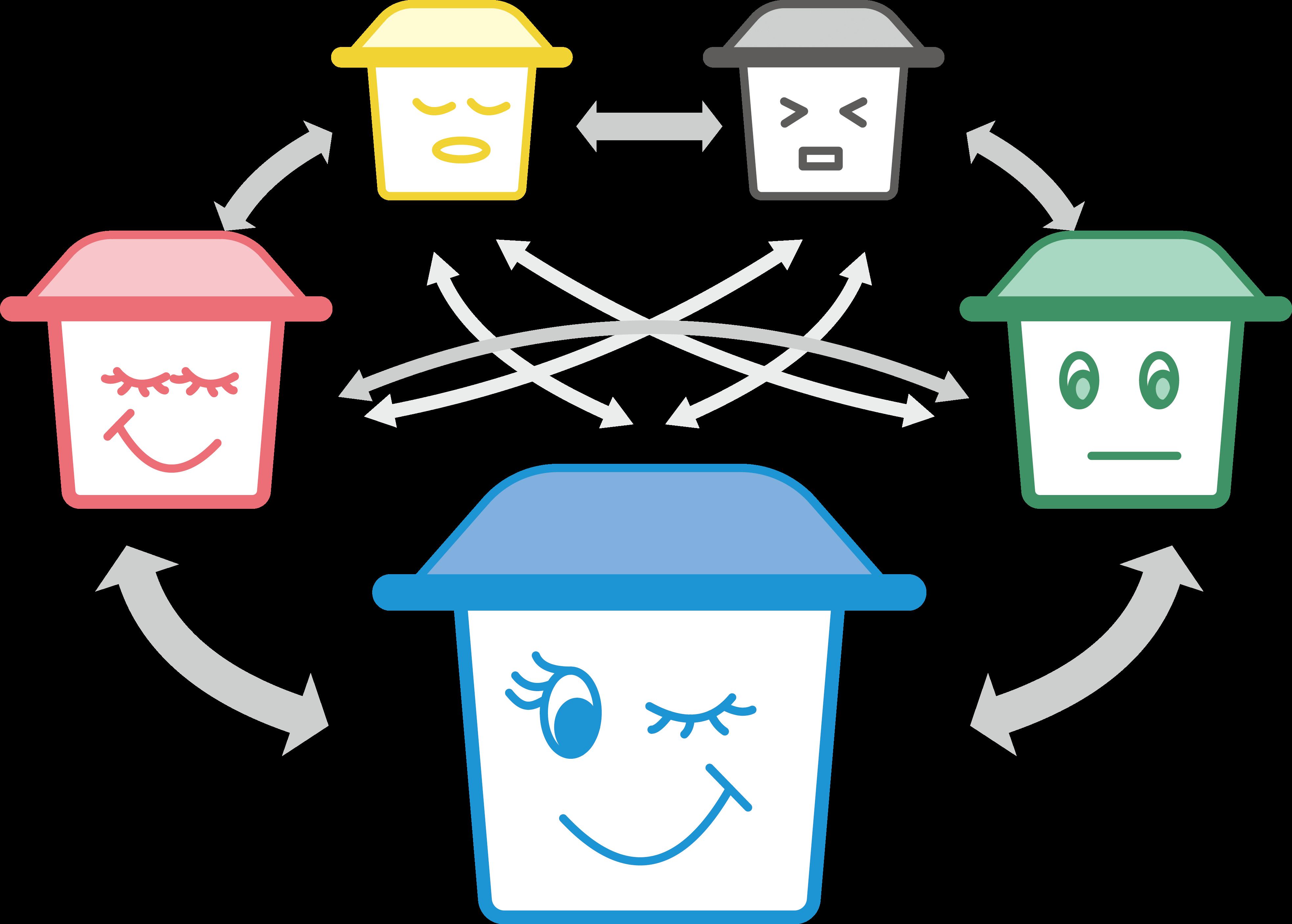 Nice bins overview. Environment clipart full bin