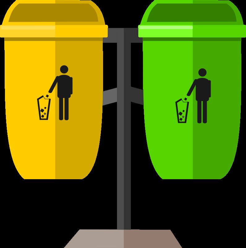 Environment clipart full bin. Trash can medium image