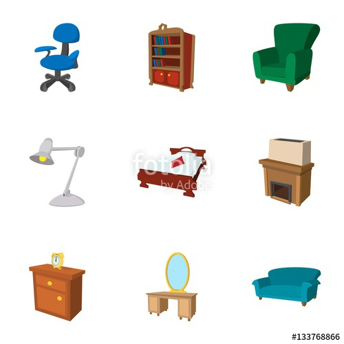 Environment clipart home environment. Icons set cartoon style