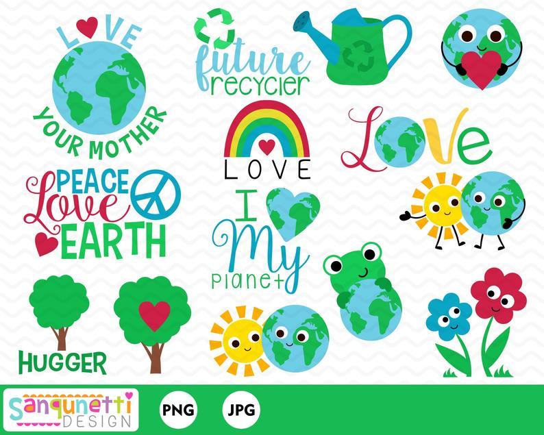 Earth day environmental digital. Environment clipart love environment