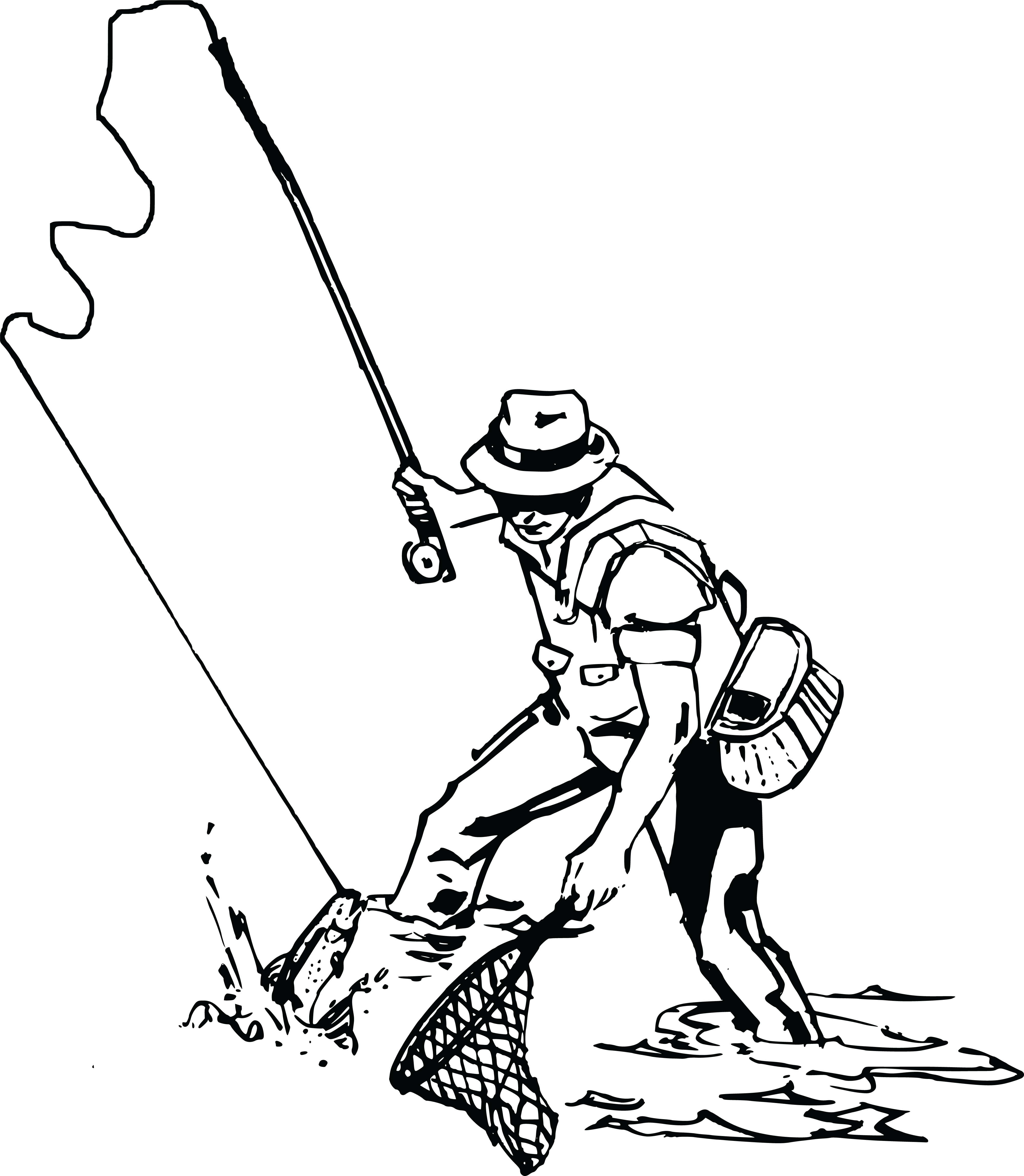 collection of fishing. Environment clipart man
