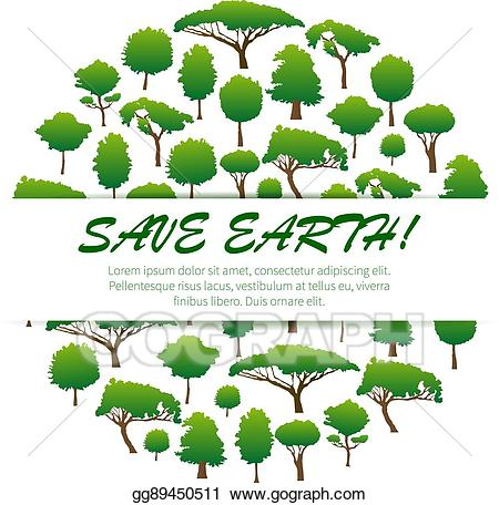 Environment clipart nature conservation. Eps vector save earth