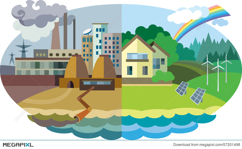 Environment clipart polluting. Environmental pollution and protection