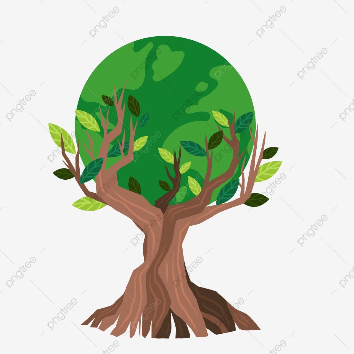 Trees green protection illustration. Environment clipart short tree