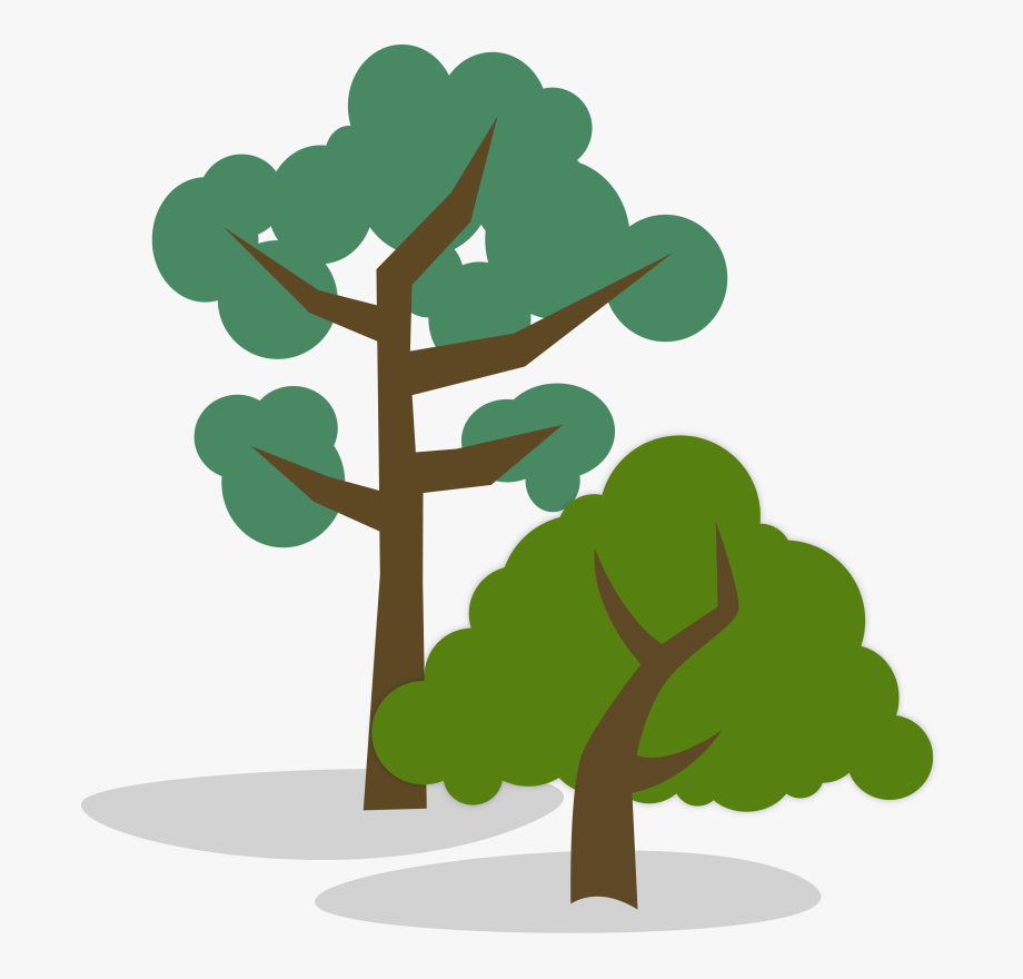 And tall . Environment clipart short tree