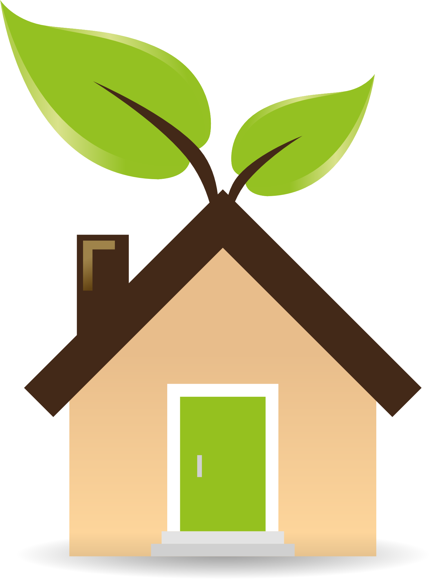 Green buildings the future. Environment clipart sustainable living