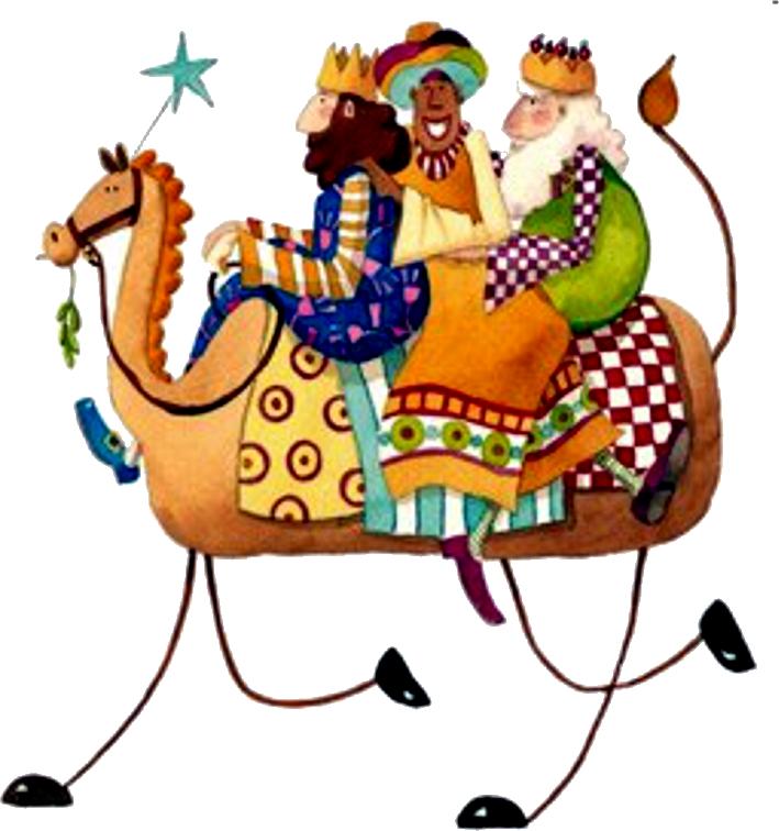 Natal pres pio holidays. Epiphany clipart reyes magos