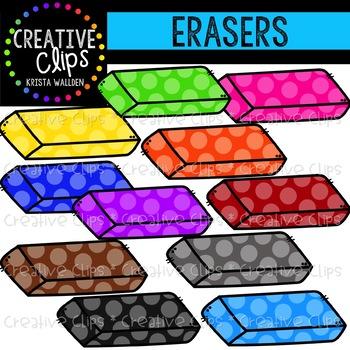 Rainbow chunk creative clips. Eraser clipart