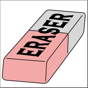 Eraser clipart. Clip art color i