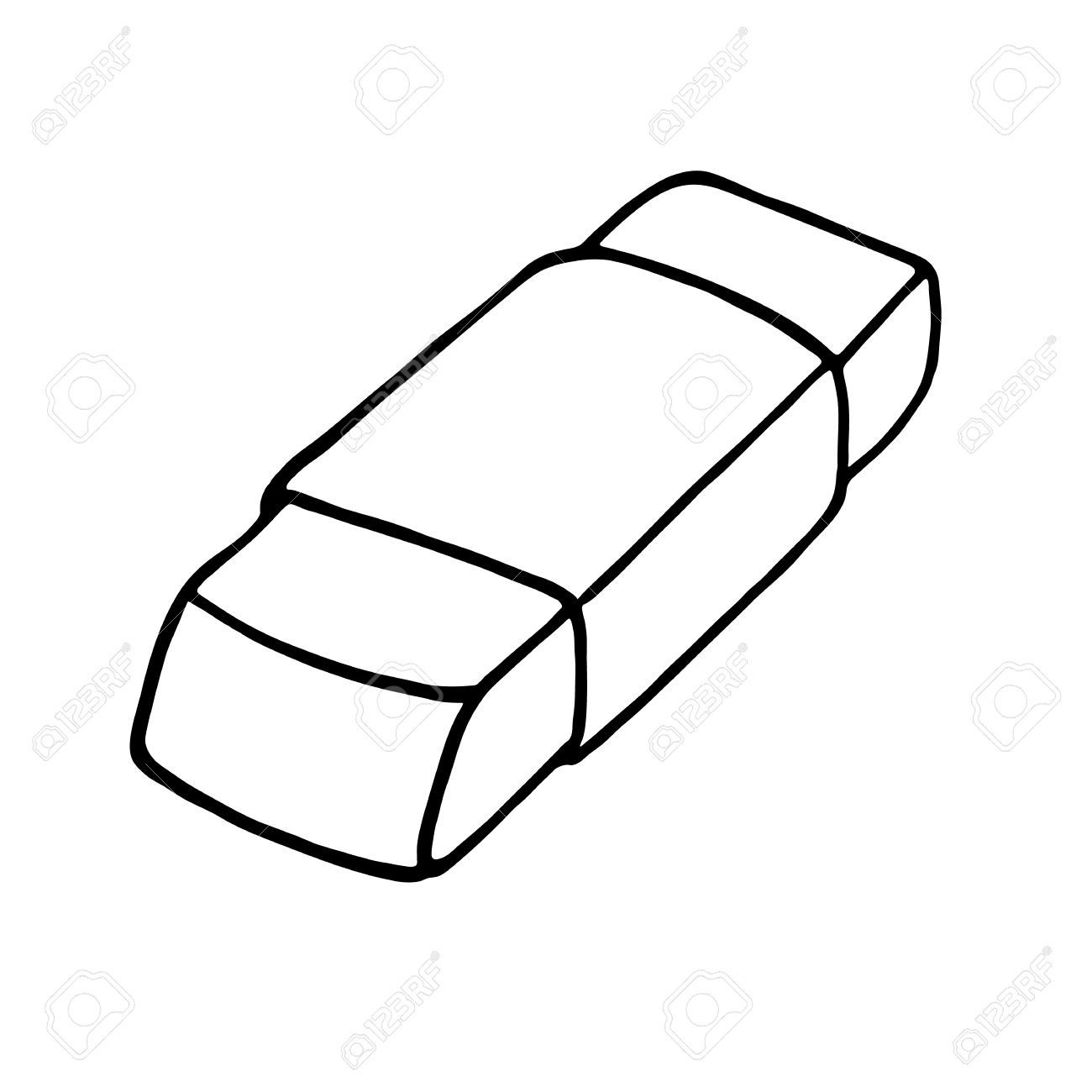 Eraser clipart. Black and white letters
