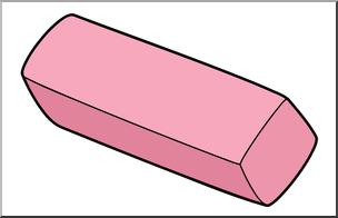 Clip art color i. Eraser clipart