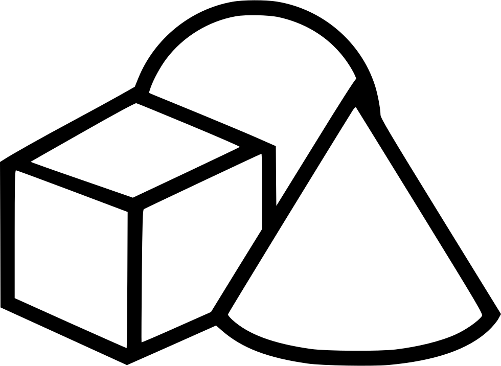 geometry clipart coloured shape