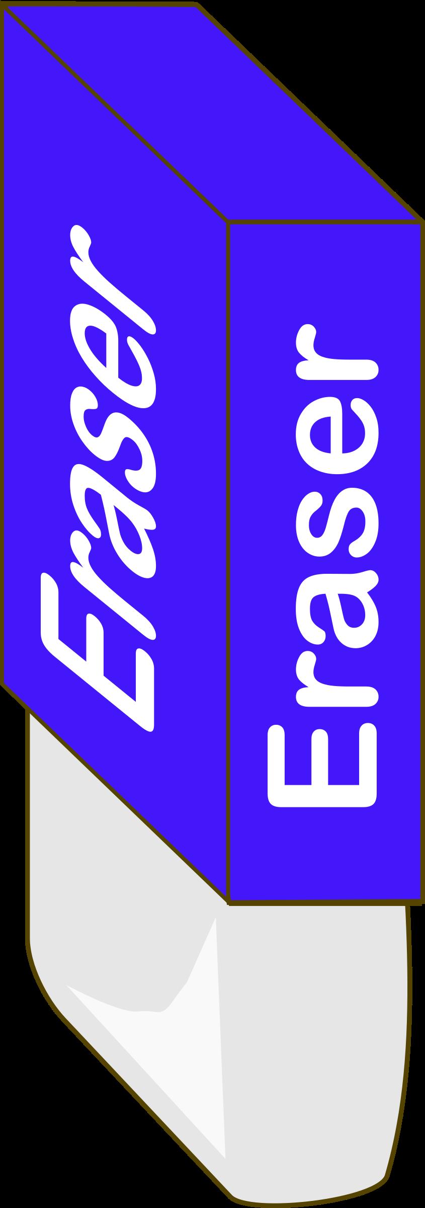 Big image png. Eraser clipart blue