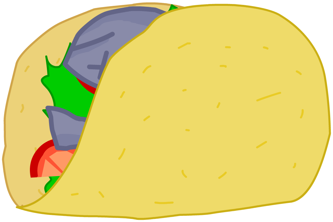 Food battle for dream. Tacos clipart taco person