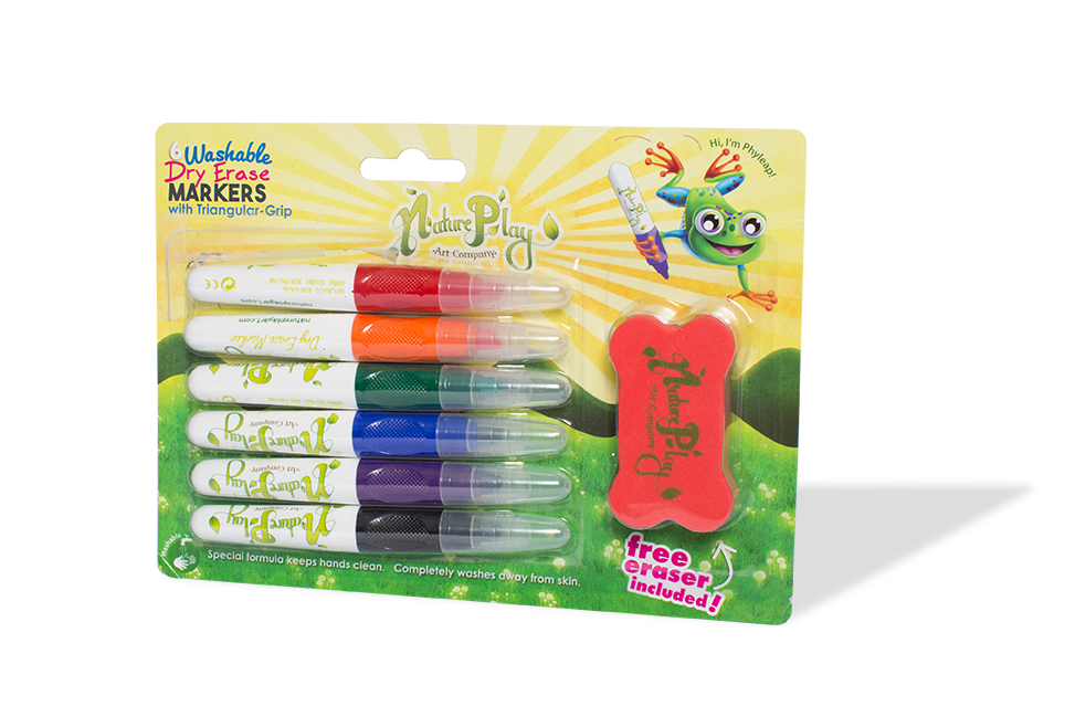 Markers clipart washable. Triangular grip dry erase