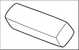 Clip art b w. Eraser clipart earaser