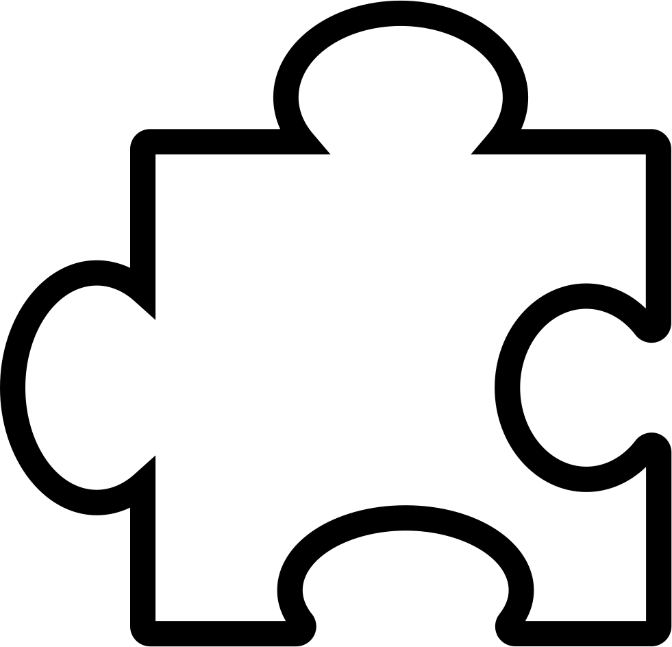 Piece outline svg png. Puzzle clipart consideration