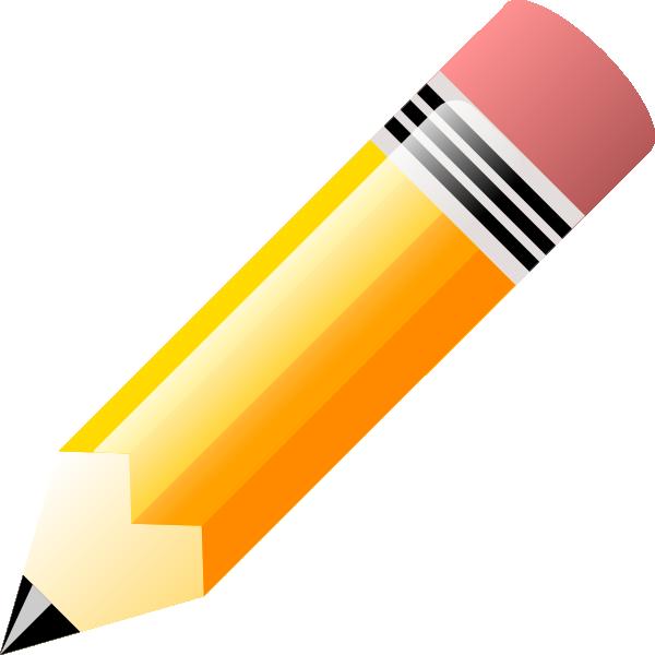 Pencil clip art at. Eraser clipart gambar