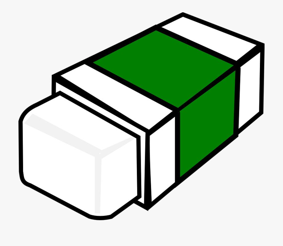 Transparent cartoon free cliparts. Eraser clipart green