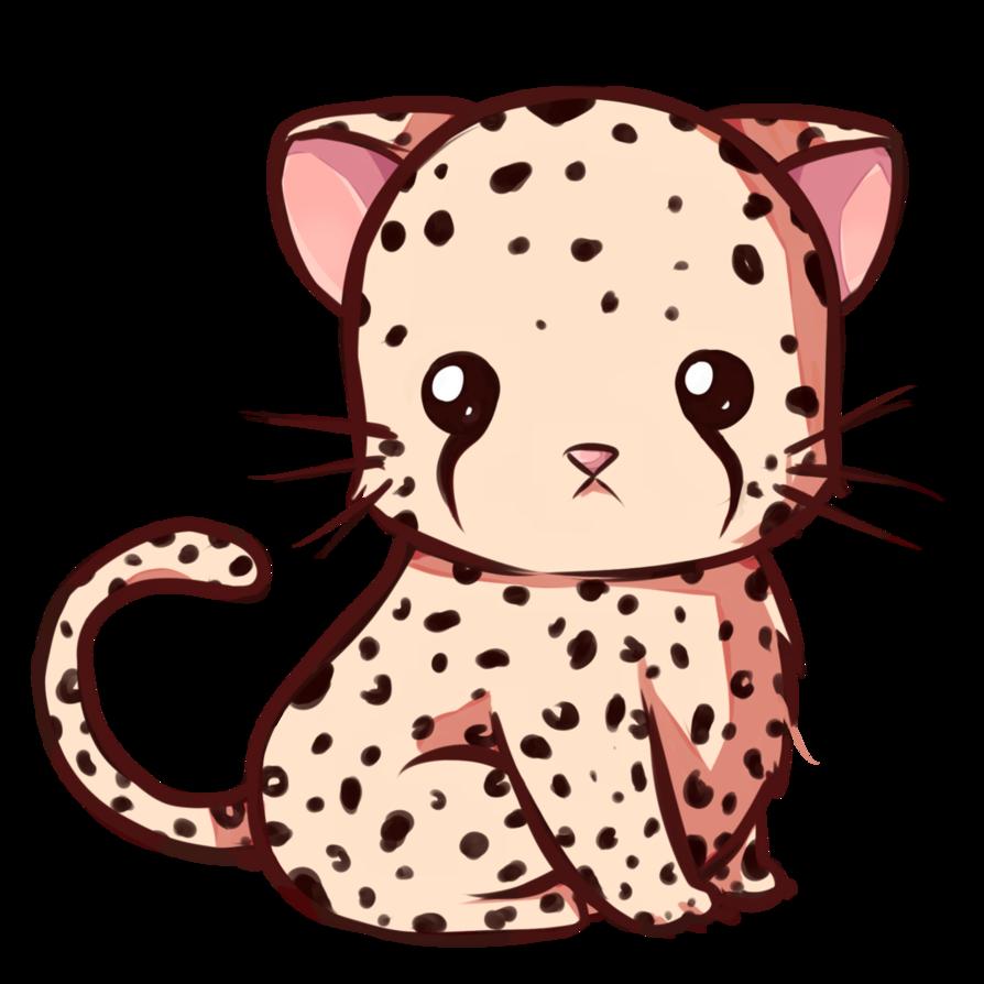 Hi w time h. Leopard clipart cute