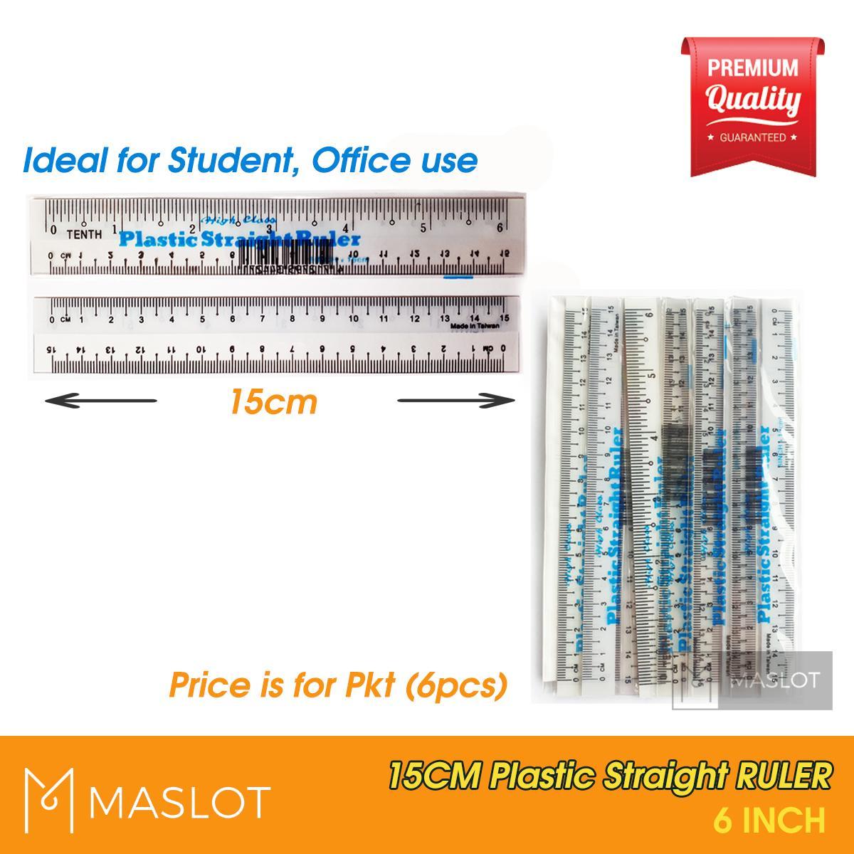 Plastic student straight ruler. Eraser clipart pembaris