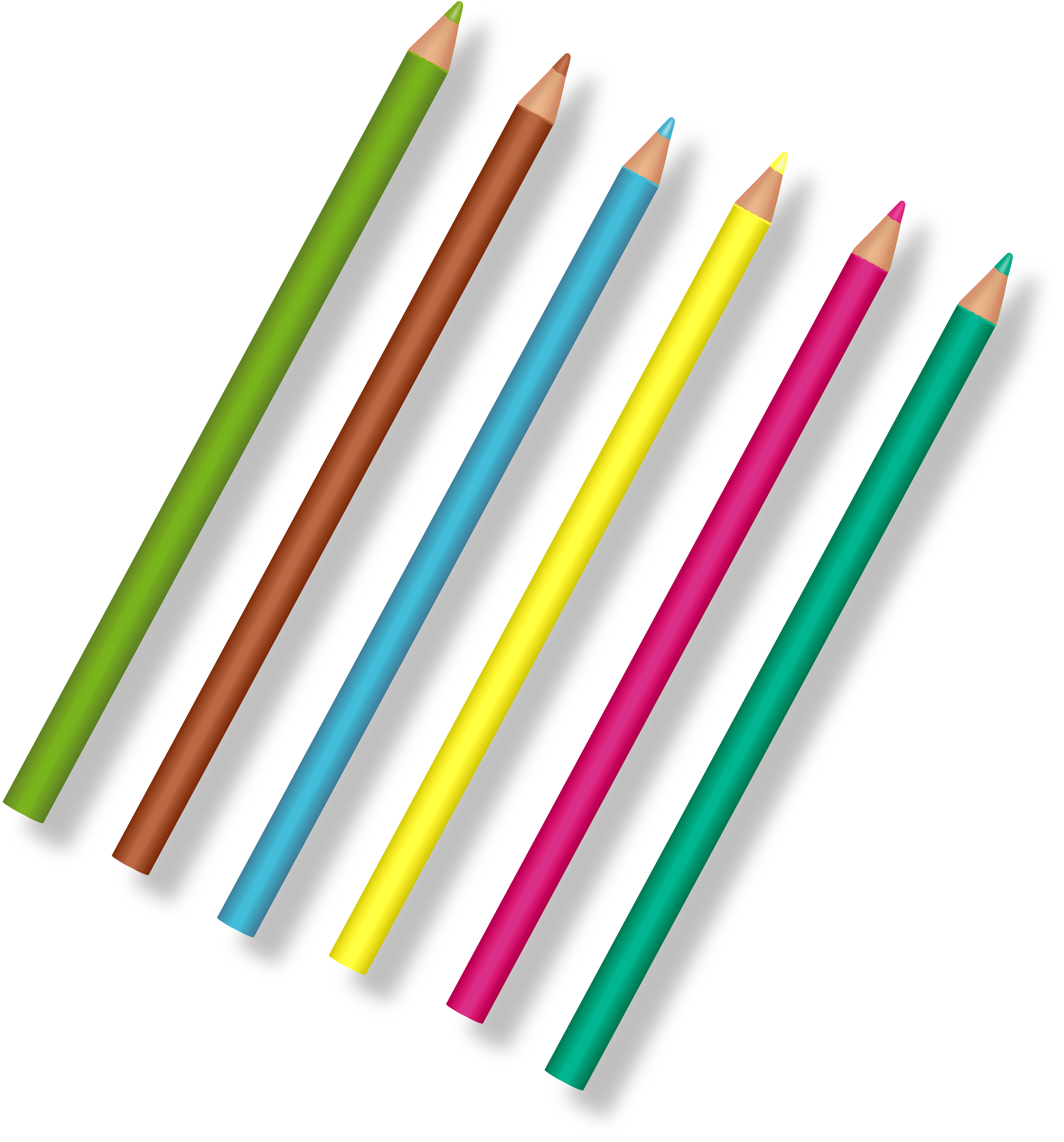 Crayons de couleurs digiscrap. Markers clipart wax crayon