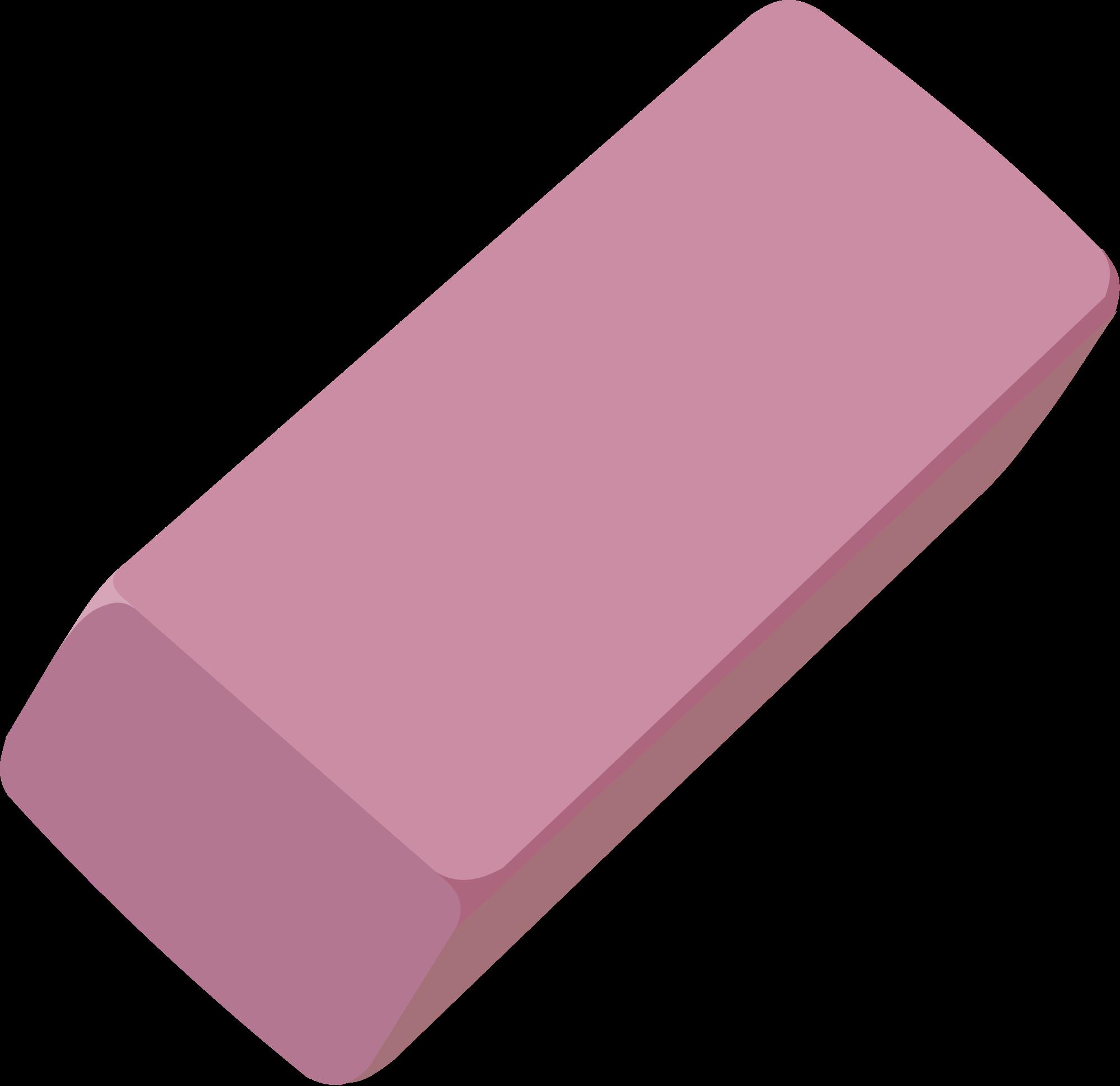 eraser clipart pink eraser