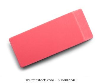 Pink station . Eraser clipart plain