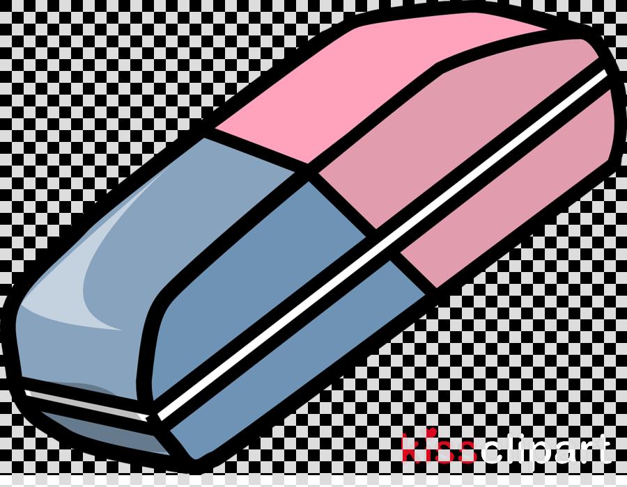 Pencil cartoon drawing graphics. Eraser clipart real