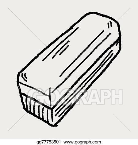 Eraser clipart whiteboard eraser. Eps illustration doodle vector