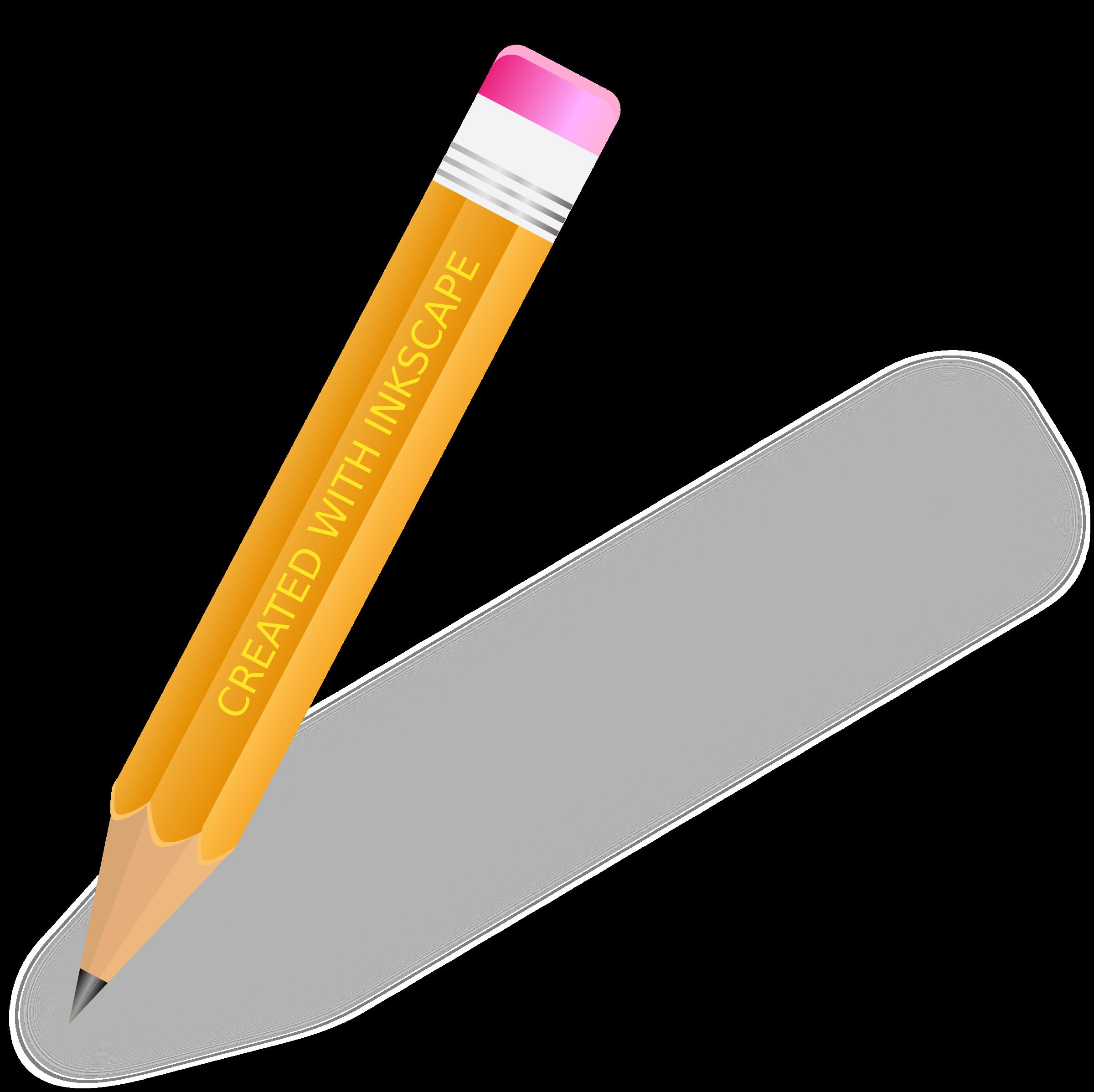Pencil clip art transprent. Eraser clipart yellow