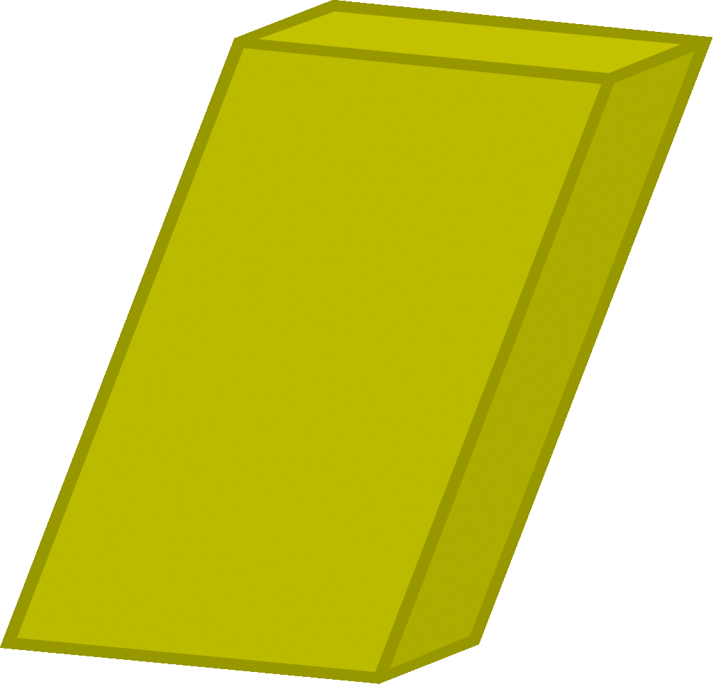 Image body png object. Eraser clipart yellow