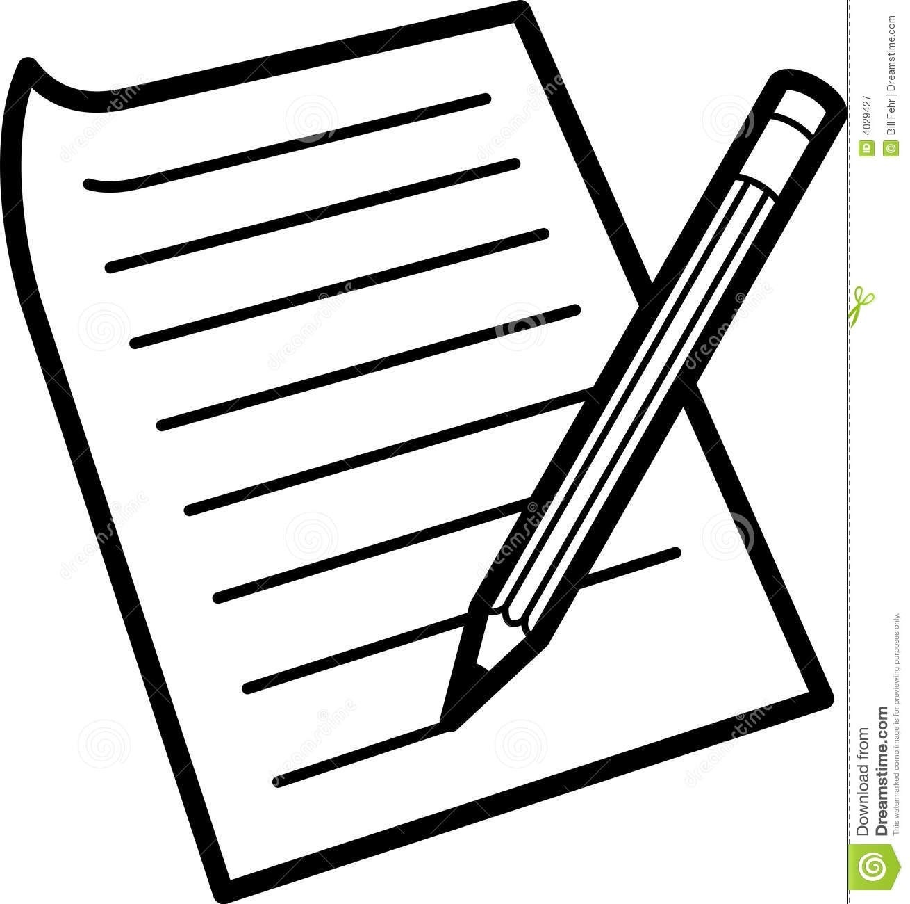 Paper writings and essays. Essay clipart