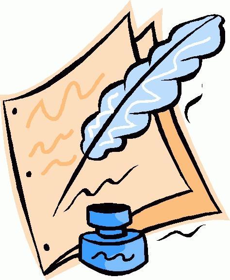 Of a personal journal. Writer clipart clip art