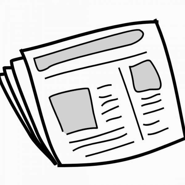 News clipart line. Paper drawing illustration animation