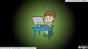 A boy typing an. Essay clipart paperwork