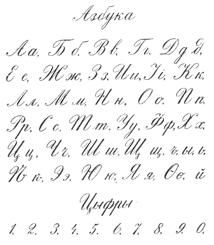 Essay clipart penmanship. Russian calligraphic handwriting from