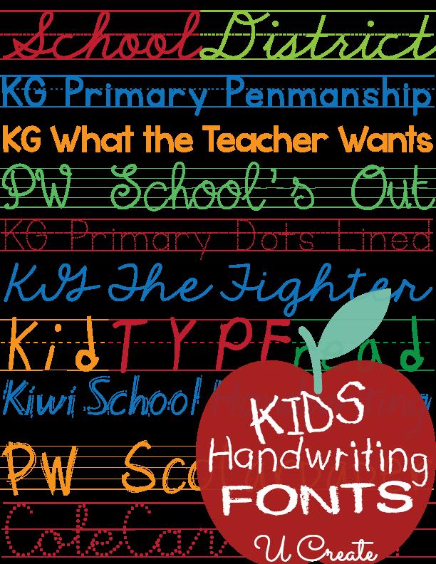 Favorite free fonts kid. Essay clipart penmanship