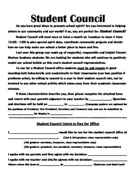 Complete forms packet edu. Essay clipart student council