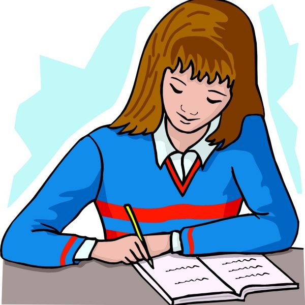 Essay clipart student writing. Free download clip art