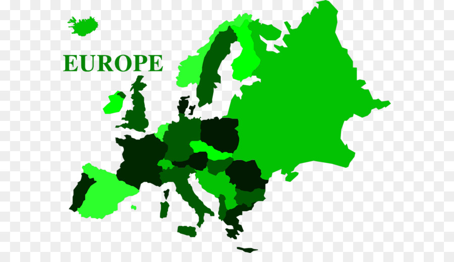Blank map vector world. Europe clipart