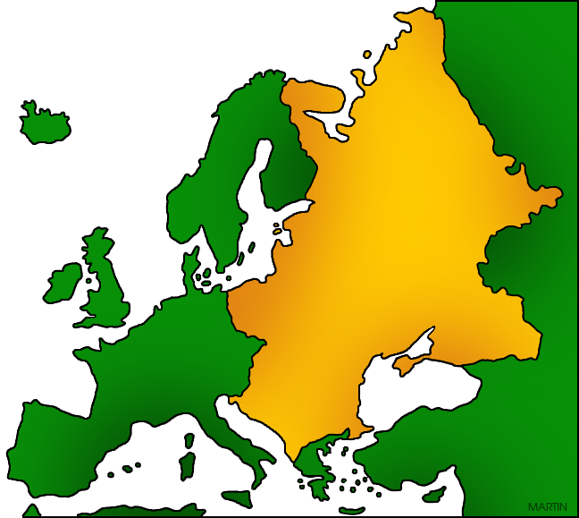 Europe clipart. Clip art by phillip